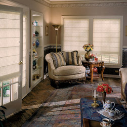 White Roman Shades - BlindsChalet.com
