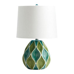 Cyan Design - Glenwick Table Lamp - Glenwick table lamp - green & white glossy