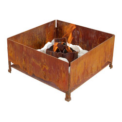 Terra Flame - Elements Fire Pit - You want the ease of man-made design, but the beauty of nature. Get both with this striking fire pit. The rust facade feels elemental, but the clean-burning fuel means it incorporates the best of innovative design.