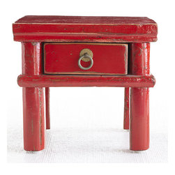 "Chinese Trinket Box - We wanted to call this ""The Box of Many Wonders,"" but we figured that might be a bit much. It really does have so many great features; it's stature can act as a pedestal for a small collectible or just for added height to a tabletop. Then there's the tiny drawer to store keys, desktop items, or anything small you want to keep out of sight. Finally, it comes in a brilliant Chinese red that is distressed and gives it charm and character. It's just the sort of piece you'll cherish for years."