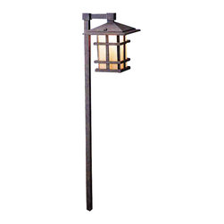 Kichler Lighting - Kichler Lighting 15322AGZ Cross Creek Aged Bronze Landscape Path Light - Kichler Lighting 15322AGZ Cross Creek Aged Bronze Landscape Path Light