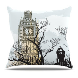 """Kess InHouse - Sam Posnick """"Big Ben"""" Throw Pillow (Outdoor, 18"""" x 18"""") - Decorate your backyard, patio or even take it on a picnic with the Kess Inhouse outdoor throw pillow! Complete your backyard by adding unique artwork, patterns, illustrations and colors! Be the envy of your neighbors and friends with this long lasting outdoor artistic and innovative pillow. These pillows are printed on both sides for added pizzazz!"""