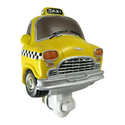 Zeckos - Retro Look Yellow Cab Night Light Taxi Taxicab Car - This super cool 60's style taxicab night light makes a wonderful gift for New Yorkers and classic car lovers everywhere. Measuring 6 inches tall, 4 inches wide and 2 inches deep, the light shines through the entire piece, from the amber taillights to the yellow body. The night light can be used in any North American power outlet. This beautiful night light is brand new, never used or displayed, and makes a great gift. It takes a standard night light bulb (included).