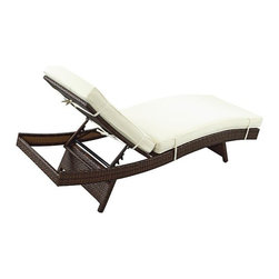 Modway - Peer Chaise in Brown White - EEI-961-BRN-WHI - Peer Collection Chaise