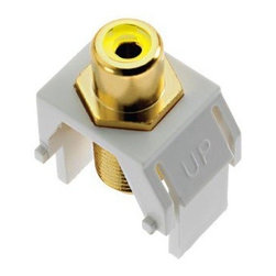 Adorne - Adorne Composite Video RCA to F-Connector - Keystone insert supports composite video distribution.