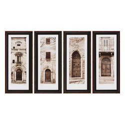 Paragon - La Porta PK/4 - Framed Art - Each product is custom made upon order so there might be small variations from the picture displayed. No two pieces are exactly alike.