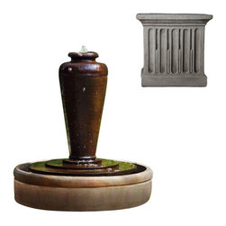Campania International - Bisbalos Fountain - Greystone (GS) - The Bisbalos Fountain (FT-41) from  Campania International, is a great addition to a cottage garden or perhaps a classic California bungalow. It is made of cast stone and includes a pump, weighs 358lbs.