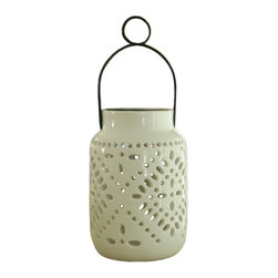 Smart Solar - Tangier Solar Ceramic Lantern - 2 pack - Decorative solar ceramic lantern is perfect for any outdoor area. Built in solar panel on the top that automatically charges the included Ni-Mh battery. Illuminates automatically at dusk and turns off at dawn. Dual modes: white, or color changing. Comes with convenient hanging loop so that the jar can be hung from your favorite tree, pergola or porch. No wiring and no assembly required. Available in a set of two.