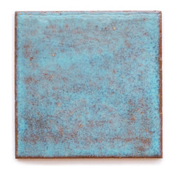12R Blue Bell (Glossy Finish) - Handmade Ceramic Tile - Handmade Ceramic Tile