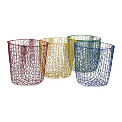 Wire Wastepaper Bin - This looks similar to wire bins I've seen before at French flea markets... except these have a fun pop of color. I think I'd forever keep them emptied as they look so fabulous on their own.