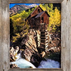 MyBarnwoodFrames - 11x17 Barnwood Picture Frame, Homestead 1.5 Inch Rustic Reclaimed Wood Frame - Rustic  Wood  Picture  Frames  -  11x17  Barnwood  Frame          Rustic  wood  picture  frames  are  a  fantastic  way  to  complement  natural  art  subjects,  and  this  uncomplicated  barnwood  frame  makes  a  great  border  for  an  astounding  variety  of  subject  matter.  The  rustic  look  of  natural  barn  wood  complements  nearly  any  picture  or  photo  you  frame.  Our  narrow  width  Homestead  Frame  is  handcrafted  from  1.5  inches  of  rustic  wood  and  includes  glass,  backing  and  a  sawtooth  hanger  so  your  frame  is  ready  to  hang  as  soon  as  it  arrives.                 Frame  is  crafted  from  authentic  barnwood           One  11x17  inch  photo  opening,  Exterior  dimensions  approximately  14x20           Frame  width:   1.5  inches           Glass  and  hanging  hardware  are  included            The  classic,  simple  lines  of  this  rustic  wood  picture  frame  are  a  favorite  for  landscape  photographers  who  want  to  frame  their  best  shots  of  the  rugged  western  landscape.  But  a  barnwood  frame  is  so  versatile,  it  makes  the  perfect  border  for  everything  from  a  still  life  oil  painting  to  a  country  wedding  portrait.  Highlight  the  natural  colors  in  a  photograph  of  a  mountain  stream  or  simply  frame  black  and  white  heirloom  photos.  Barnwood  can  take  on  many  different  personalities.  Because  each  frame  is  handcrafted  from  reclaimed  wood,  these  frames  also  represent  an  eco-friendly  method  for  showcasing  your  treasured  memories.  Click  here  to  view  more  of  our  rustic  picture  frames  made  with  natural  wood.            Please  Note:   Barnwood  comes  in  a  variety  of  colors  and  textures.  The  rustic  wood  frame  pictured  here  is  a  representation  and  your  frame  may  vary  slightly  in  color  and  texture.  Photo  NOT  included.