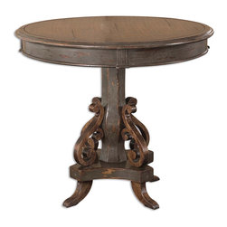 Uttermost - Uttermost 25508 Anya Round Pedestal Table - Uttermost 25508 Anya Round Pedestal Table