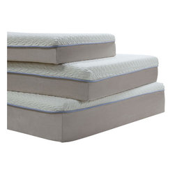 ACME Furniture - Acme Lavell  Eastern King Memory Foam Mattress - The 12-inch Memory Foam Mattress features a 1 gel foam with one blue strip border line surrounding followed by a 1QR memory foam and an 8-inch base support foam layer.