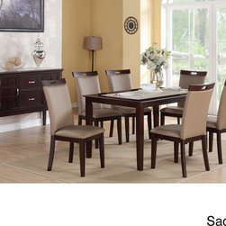 None - Rosi Bicast Leather Dining Chairs (Set of 6) - Add seating to your home with this set of six bicast-leather dining chairs. These attractive chairs feature neutral colors suitable for any decor and padded upholstery that ensures diners remain comfortable throughout long and leisurely meals.