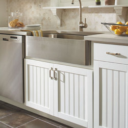 Aristokraft Country Sink Base Cabinet - A traditional country sink base cabinet by Aristokraft accommodates the added depth of a country sink.