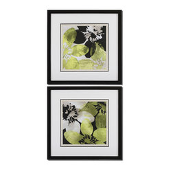 Bloomer Tiles Floral Art, Set of 2