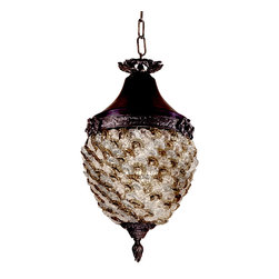 Dale Tiffany - Dale Tiffany TH13053 Glass Flower Hanging Fixture - Shade: Hand Blown Art Glass