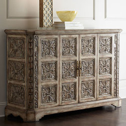 Ambella - Ambella Hadley Medallion Chest - As fabulous as it is functional, this impressive chest blends amazing looks with practical storage options. It features a richly textured, ornate medallion pattern on the front and sides as well as a shapely apron on the sides. Designed to accommodate....