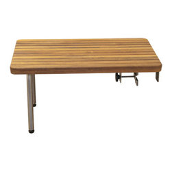 Teakworks4u - Teak ADA Removable Seat for Bathtubs - Why settle for a plain old plastic ADA Compliant Bathtub Seat when you can add a beautiful Burmese Teak Tub Seat to your home? Long-lasting and durable.