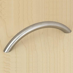 Bow Handle - If you need an easy and unfettered drawer pull, this simple bow handle has your name all over it. Whether you place it in a kitchen or a bathroom, no one could argue with the clean curves of this pull.