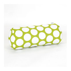 Indoor Hot Green Large Polka Dot Round Bolster