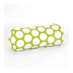 "Majestic Home - Indoor Hot Green Large Polka Dot Round Bolster - Toss something supportive into your favorite setting. This comfortable bolster delivers that extra bit of ""aah!"" to your neck, lumbar or back of the knees. Bonus: The poppy dotted print will lift your spirits in the process."