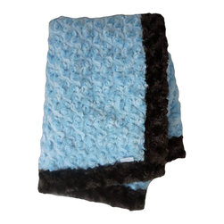 Belle & June - Baby Blanket, Chocolate and Baby Blue - This throw blanket is supremely soft and cozy while its two-tone color scheme keeps it looking elegant and sophisticated in any nursery. Buy this blanket for your baby or give as a shower gift to expectant parents. They will be sure to love and cherish it.