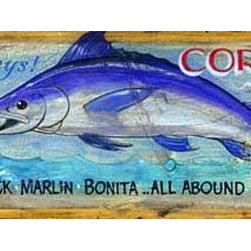Red Horse Signs - Nostalgic Vintage Beach Signs, Large oral Hotel Fishing and Cocktails, 14x42 - Nostalgic  Vintage  Beach  Signs  -  Coral  Hotel  Fishing  and  Cocktails          Add  the  essence  of  salty  sea  air  with  the  nostalgic  Coral  Hotel  vintage  beach  sign.  Printed  directly  to  distressed  wood,  this  sign  is  available  in  2  sizes:  9x32  and  14x42.  Customize  for  a  truly  unique  sign  that  gives  your  seaside  abode  a  special  style!  For  a  $15  fee,  you  may  specify  a  different  name  to  replace  Coral  Hotel  on  your  sign.  Existing  wording  reads,  Coral  Hotel,  Key  West.  Fish  the  Keys!  Guide  with  charter  boat,  $20  day.  Sailfish,  Amberjack,  Marlin,  Bonita  ...  All  Abound.  Cocktail  Lounge.  Please  allow  up  to  three  weeks  for  delivery.          Product  Specifications:                  Seaside  Vintage  Style              14x42              Printed  directly  to  distressed  wood              Customize  for  unique  style