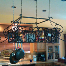 Traditional Pot Racks And Accessories by Ironic Metalworks LLC