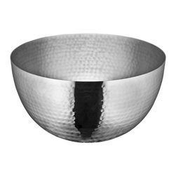 Cuisinox - 10in. Serving Bowl, Hammered Finish - The new hammered finish line is extremely popular. The line includes serving bowls all in a high gloss hammered finish. Salad servers can be purchased separately, Ideal to serve salad, potato salad or chips.