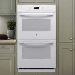 """GE - JT3500DFWW 30"""" Built-In Electric Double Wall Oven With Self-Clean Heavy-Duty Ove - The GE 30 in Electric Double Wall Oven provides a full 50 cu ft capacity per oven for ample cooking space Closed-door broiling with 8 pass Broil element in both ovens allows for safe cooking without overheating the kitchen The Warm mode in each oven ..."""