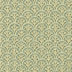Destinations by the Shore - Coral is just as chic in seafoam. Get this nautical wallpaper from AmericanBlinds.com