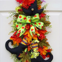 Fall witch swag wreath - !
