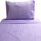 Cathgro - Lilac Polka Dots Twin Sheet Set Purple Bedding - FEATURES:
