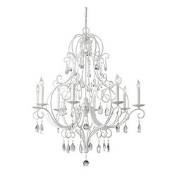 Murray Feiss - Murray Feiss F2303/8 Chateau Blanc 8 Light Single Tier Chandelier - Features: