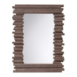 Murray Feiss - Murray Feiss MR1170GR Stacked Contemporary Rectangular Mirror - Murray Feiss MR1170GR Stacked Contemporary Rectangular Mirror