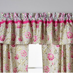 Trend Lab - Waverly Baby Jazzberry Window Valance - 71022 - Shop for Window Treatments from Hayneedle.com! Complete your nursery with a coordinating window valance. For your baby girl choose the Trend Lab Waverly Jazzberry Window Valance. This machine washable cotton valance has a classic floral print in marshmallow white carmine and cerise pink moss green Abbey stone and dune sand. The curtain rod pocket is made from a coordinating border with an optical design which features the same color palette. The valance fits a standard size window. Coordinating Jazzberry curtains nursery accessories and bedding are sold separately.About WaverlyWaverly launched in 1923 and grew to be a premier home fashion and all-encompassing lifestyle brand. They're now one of the most recognized names in home furnishings. With a signature look that's expertly translated into countless classic styles among home furnishing products their assortment includes wall coverings paint bedding window treatments decorative accessories and other key products.