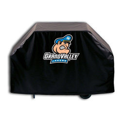 """Holland Bar Stool - Holland Bar Stool GC-GVStUn Grand Valley State Grill Cover - GC-GVStUn Grand Valley State Grill Cover belongs to College Collection by Holland Bar Stool This Grand Valley State grill cover by HBS is hand-made in the USA; using the finest commercial grade vinyl and utilizing a step-by-step screen print process to give you the most detailed logo possible. UV resistant inks are used to ensure exeptional durablilty to direct sun exposure. This product is Officially Licensed, so you can show your pride while protecting your grill from the elements of nature. Keep your grill protected and support your team with the help of Covers by HBS!"""" Grill Cover (1)"""