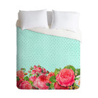 DENY Designs - Allyson Johnson Favorite Floral Duvet Cover - Turn your basic, boring down comforter into the super stylish focal point of your bedroom. Our Luxe Duvet is made from a heavy-weight luxurious woven polyester with a 50% cotton/50% polyester cream bottom. It also includes a hidden zipper with interior corner ties to secure your comforter. It's comfy, fade-resistant, and custom printed for each and every customer.