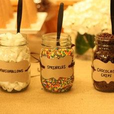 EAT DRINK PRETTY: A rustic ice cream dessert table