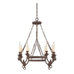 Savoy House - Bastille 8 Light Chandelier - Elegant simplicity defines this collection. The Heritage Bronze finish is rich and relaxed and the Soft Ivory Beeswax candles create a glow that will warm your home.
