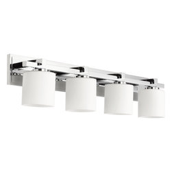 Quorum International - Quorum International 5369-4 4 Light Bathroom Vanity Light with Satin Opal Shades - Features: