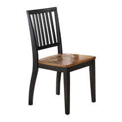 Steve Silver Candice Side Chair in Oak and Black (Set of 2)