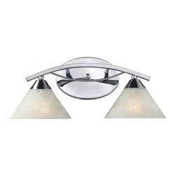 Joshua Marshal - Two Light Polished Chrome Vanity - Two Light Polished Chrome Vanity