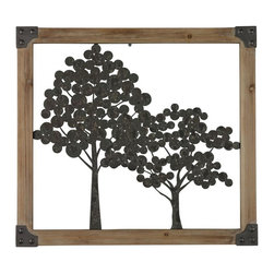 Sterling Industries - Sherwood-Tree Wall Decor In Natural Wood Frame - Sherwood-Tree Wall Decor In Natural Wood Frame