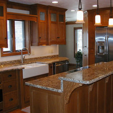 traditional kitchen cabinets by Schmidt Carpentry