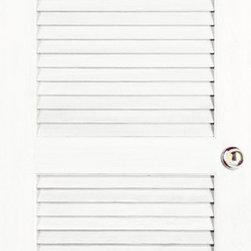 "Authentic Wood Doors - Primed Pine Louver Doors Plantation - 2-1/4"" Slats 1-3/8"""