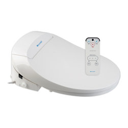 Brondell - Swash 300 Advanced Bidet Toilet Seat, Elongated, White - Brondell Swash 300 electronic bidet toilet seats offer warm water washes, adjustable heated seats and a wireless remote control. Easily replaces the existing toilet seat and fits on 98% of toilets. Imported.