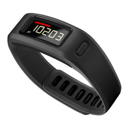 """Frontgate - Garmin VivoFit with Heartrate Monitor - Includes: VivoFit with large and small band; heart rate monitor; USB ANT™ Stick; user manual. Large band fits wrists 6"""" – 8-1/4"""". Small band fits wrists 4-3/4"""" – 7"""". Learns your activity level and assigns a personalized daily goal. Displays steps, calories and distance. Make every step count with VivoFit. It's the only fitness band that greets you with a personalized daily goal, tracks your progress and reminds you when it's time to move. VivoFit learns your current activity level and then assigns an attainable daily goal. As you meet your milestones, it will adjust your goal for the next day, gradually nudging you toward a healthier lifestyle. When you're ready to take the next steps toward better health, VivoFit has additional features to keep you motivated. Use the heart rate monitor to record your heart rate and zone data and get more accurate calorie burn information for any fitness activity, such as a run or a cardio class at the gym. Includes: VivoFit with large and small band; heart rate monitor; USB ANT Stick; user manual . Large band fits wrists 6"""" - 8-1/4"""" . Small band fits wrists 4-3/4"""" - 7"""" .  .  . Easy-to-read display . Monitors sleep stats . Pairs with heart rate monitor for fitness activities . 1+ year battery life . Water-resistant . Save, plan and share progress at Garmin Connect . Stores up to 3 weeks of 24/7 activity data on device between syncs, or up to 2 weeks if a heart rate monitor is used 1 hour/day . Choose from five colors: black, blue, purple, slate, teal ."""