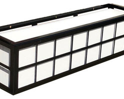 "Springfield Window Boxes - Our Springfield is a clean line contemporary look that goes well with many homes with its perfect simplicity. Our Wrought Iron Window Boxes can be installed on any surface with the use of standard lag screws (sold separately). Follow our ""how to install window boxes"" tips for safe and secure installation. Detailed instructions come included with the box."